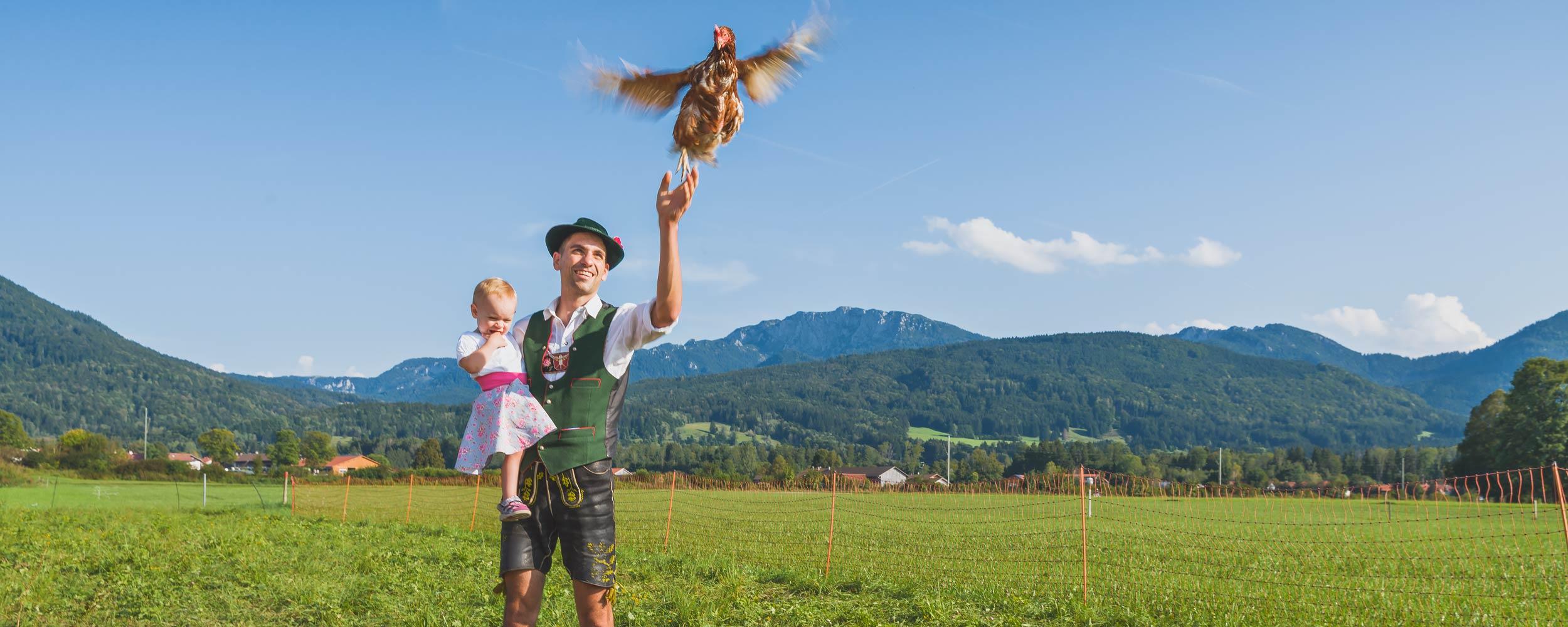 Eier von Hühner aus mobiler Freilandhaltung
