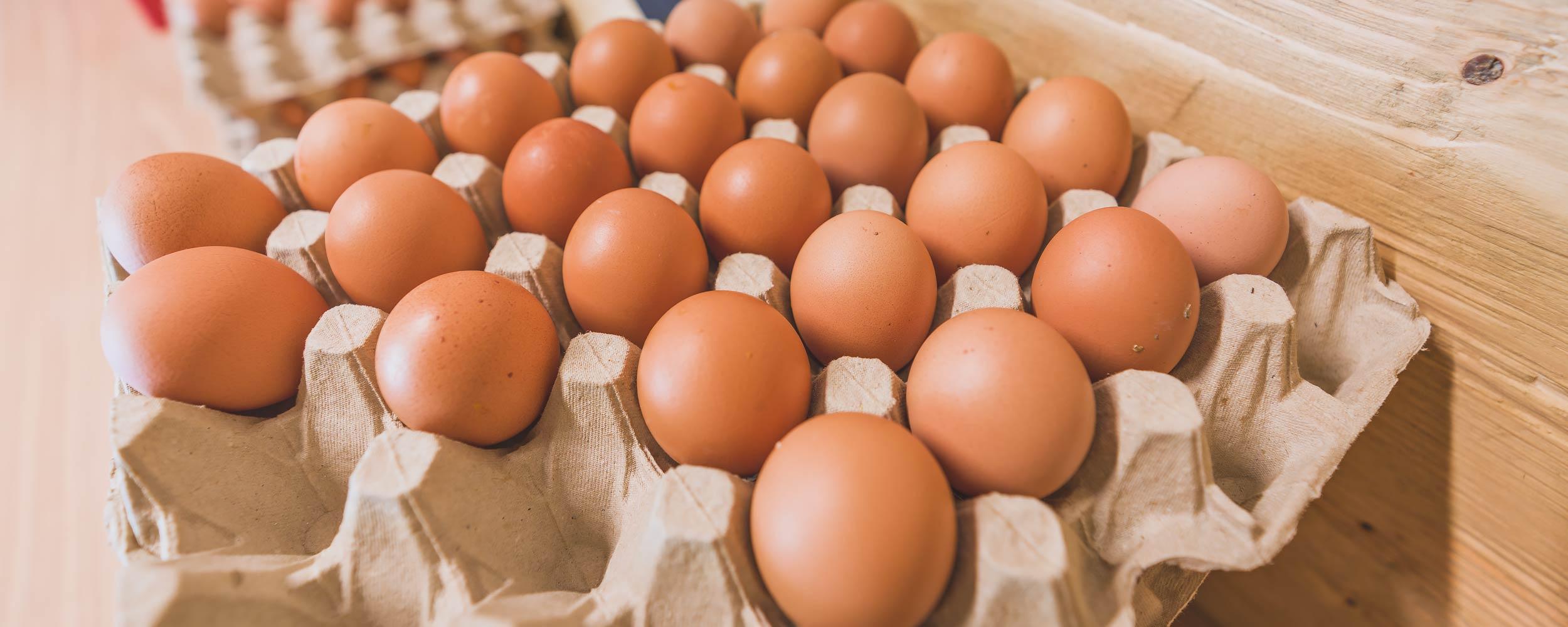 Eier im Hofladen